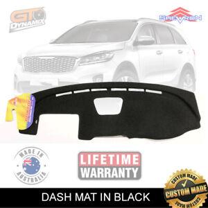 Black Dash Mat Kia Sorento UM MY18 Si Sport SLi GT-Line 11/2017-3/2020 DM1504