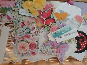 Craft Room Clearout Card Toppers Die Cuts Sentiments Bundle 50pcs
