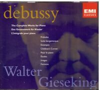 Debussy: Werke Komplette Für Klavier / Walter Gieseking - CD