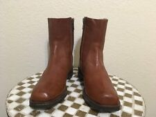BROWN FRYE  BROWN HIPSTER DISCO SQUARE TOE DANCE BOOTS 10.5 D