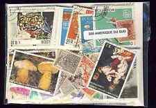 Amérique du Sud 200 timbres différents oblitérés tous pays