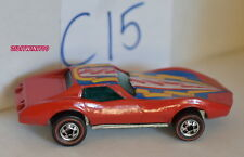 Hot Wheels 1975 Corvete Stingray Redline Hong Kong Restored Loose W+