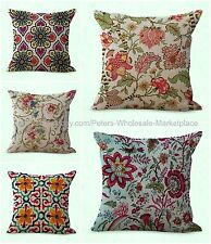 set of 5 decorative throw pillow case for couch cushion covers retro tree flower