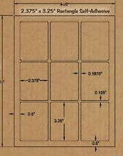 Brown Kraft Breakaway TartLabels-2 3/8 x 3 1/4Rectangle -Candle Making