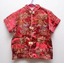 Beautiful Vintage Girl's Silky Chinoiserie Pajamas/ Lounge Suit
