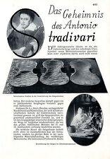 Das Geheimnis des Antonio Stradivari 20er Jahre Text-Foto-Collage c.1930