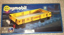 Playmobil 4126 Yellow Cargo Freight Train Car New In Box 2004