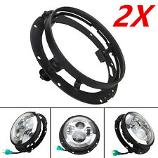 2x Mounting Bracket for 7inch LED Headlight Round Ring For Harley Davidson Black