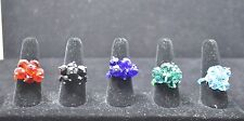 WHOLESALE LOT 5 PCS MIX COLLECTION COSTUME JEWELRY RINGS TU-43 US-SELLER