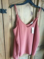 river island rust camisole blouse bnwt size 14 ladies rrp £16