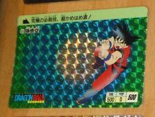 DRAGON BALL Z DBZ HONDAN PART 1 CARDDASS CARD PRISM CARTE 2 JAP 1988 G++>EX++