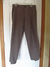 NWT DOCKERS SIGNATURE KHAKI FLAT FRONT DRESS PANTS W30 L30 Black & Tan Print
