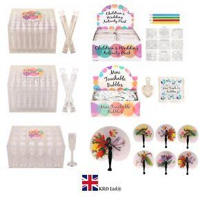 WEDDING FAVOURS Handheld Fan Bubble Confetti Loot Party Bag Filler Favour Lot UK