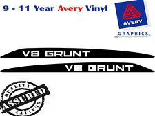 V8 GRUNT Decal Sticker for Toyota Landcruiser 76 70 78 79 SERIES Bonnet Bulge