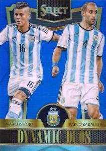 2015 Panini Select Soccer 'Dynamic Duos' - Blue Parallel Serial Numbered to 299
