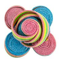 2 FULL POUNDS Rainbow Sour Rolled Belts FREE SHIPPING