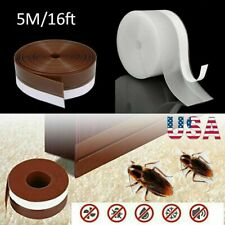 16Ft Door Hardware Seal Strip Stripping Self Adhesive Rubber Bottom Stopper Home