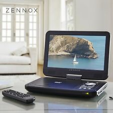 """Portable DVD Player Swivel Screen In Car Charger 10"""" USB & CD Compact by Zennox"""