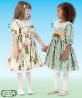 Girl 6-8 Pullover Dress Belt Ruffled Petticoat McCalls M7075 Pattern New