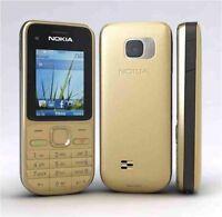 New Nokia C2-01 3G Sim Free Bluetooth Gold Mobile Phone UK