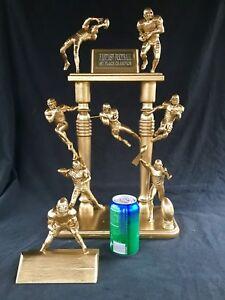Fantasy Football custom trophy McFarlane 1/1 Gold- Hand made 2ft solid Nice ART$