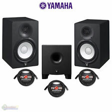 "Yamaha HS8 Two-Way 8"" Active Monitors - Black (Pair) with HS8S Studio Subwoofer"