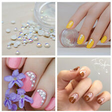 Mini Pearl 3D Nail Decoration Flatback Nail Art Studs For UV Gel Nail Art