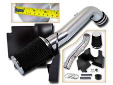 BCP BLK 01-04 Sierra/Silverado 6.6L V8 Turbo Cold Air Intake Induction +Filter