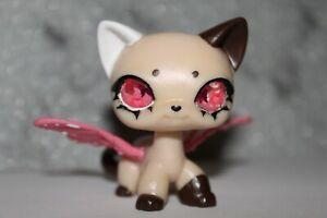 Littlest Pet Shop Resin/Glass-Eye Shorthair Cat Fairy Wings Mythical Custom OOAK