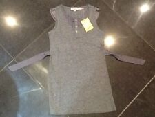 NWT Juicy Couture New & Gen. Girls Age 8 Grey Cotton Sleeveless Top With Lace