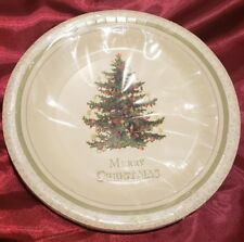 NWT Punch Studio 14135 Christmas Tree 16-Count Paper Dinner Plates