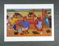 Vintage Signed Print Puerto Rican Artist Frank Diaz Escalet Latin American Art