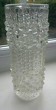 Vintage Czech Sklo Union 'Candle Wax' art glass vase by Frantisek Peceny
