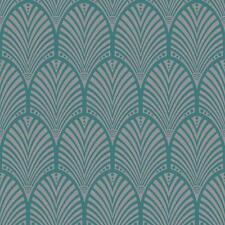 Gatsby Art Déco Papier-peint Sarcelle - Holden Decor 65253 Metalique