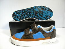 ROYAL ELASTICS KING STRAP MEN SHOES CHOCOLATE/BLUE 01928209 SIZE 8 NEW