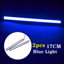 2pcs Blue 12V LED Strip DRL Daytime Running Lights Fog COB Car Lamp Waterproof