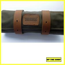 Venhill Motorcycle waxed canvas & leather tool roll Classic Vintage motorcycle