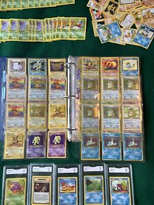 Pokemon Card Collection Lot Binder Wotc Holos 65+ 1st Editions Graded Cards More