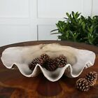 Uttermost Clam Shell Bowl in Antique White