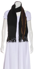 Gucci woven wool and silk fringe scarf
