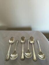 """BELLISSIMO set di qualità placcato argento 6 cucchiaini da tè 5.75"""" Long SPTS 494"""