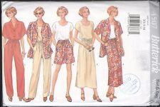 Misses' Shirt Top Skirt Shorts Pants Size XS S M Butterick Pattern 4507 Uncut