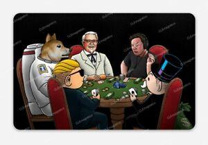 Crypto Poker Game STICKER - Bitcoin Dogecoin Tendies Wallstreetbets WSB Elon KFC