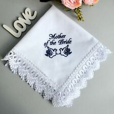 Mother of the Bride gift from daughter Cotton wedding handkerchief wedding day