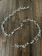 Crate and Barrel Silver Jingle Bell Garland 6'