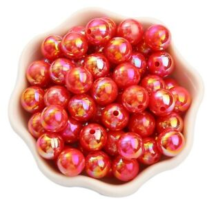 50PCS 8mm Imitation Pearl AB DIY Round Loose Beads For Jewelry Necklace Making