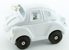 GENEVA  WHITE CAR KEYCHAIN ( BUG BEATLE) WATCH-NEW