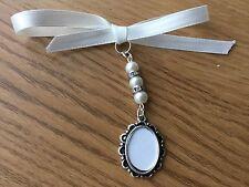 Ramo De Novia Boda de memoria Oval foto marco encanto perlas de swarovski