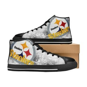 Pittsburgh Steelers Shoes High Top Canvas Casual Shoes Custom Sneakers