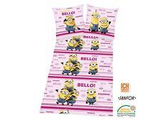 Minions renforce- Reversible Cushion Bed Cover 135x200 cm Pillow 80x80 cm